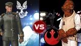 The UNSC Home Fleet vs the Rebel's Fleet at Endor Halo vs Star Wars Galactic Versus