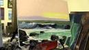 Морской пейзаж маслом, научиться рисовать море, Игорь Сахаров