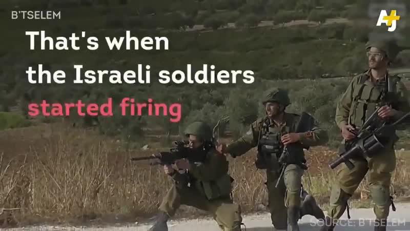 Des tsahalopes juifs se réjouissent en tirant sur des manifestants palestiniens près de la ville de Madama