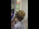 Делаем высокий пучок. Свадебная причёска на длинные волосы. Стилист - Галина Сухицкая