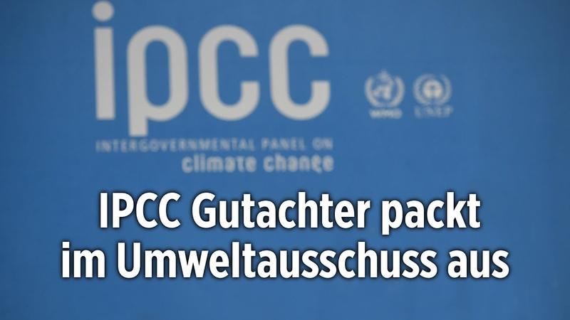 Offizieller IPCC-Gutachter packt im Umweltausschuss aus