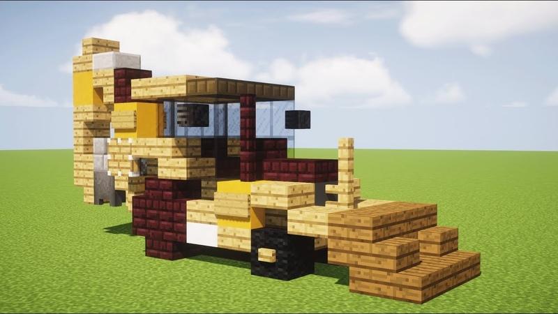 Minecraft CAT Backhoe Loader Construction Vehicle Tutorial