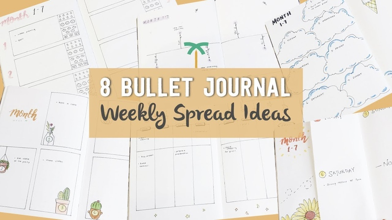 8 Bullet Journal Weekly Spread Ideas Weekly Plan with Me Stationery Island