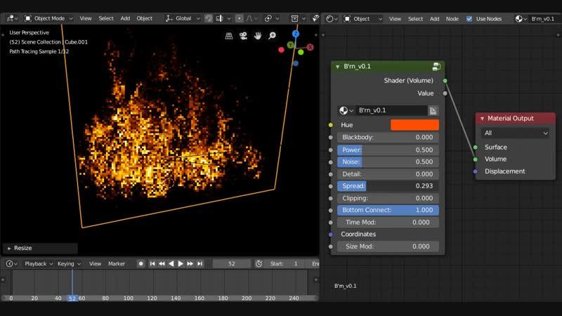Brn - Procedural Fire Shader v0.1 showcase