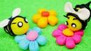 Abejas de plastilina Play Doh. Vídeos de juguetes infantiles.