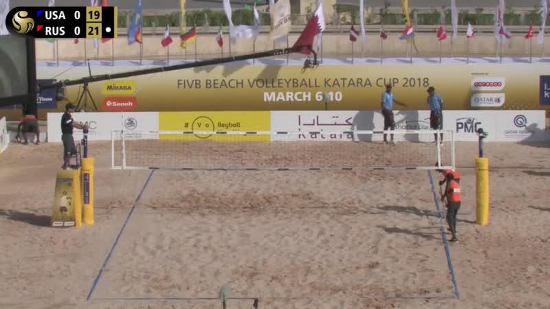 KATARA Beach Volleyball Cup 2018 Dalhausser-Lucena USA [1] Stoyanovskiy-Velichko RUS [15]