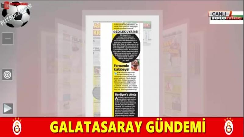 GALATASARAY Sabah Sporu ¦ Erzurumspor Maçı ve Muhtemel 11 Yorumları 28 Eylül 2018