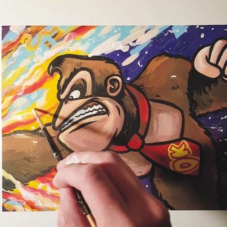 DK нарисованный гуашью