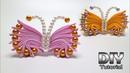 DIY - How to make Kanzashi Butterfly   Crab   Grosgrain ribbon   Cara membuat bros   Handmade