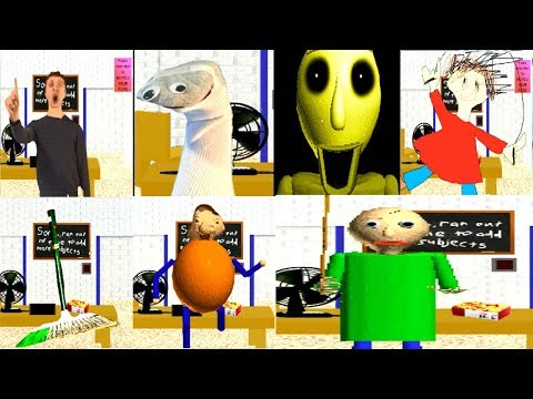 ALL JUMPSCARES Five Nights Baldi's Basics in Education and Learning
