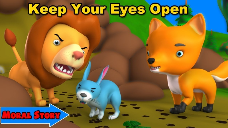 Lion and Fox Moral Story Best 3D Animated English Moral Stories Collection for Kids
