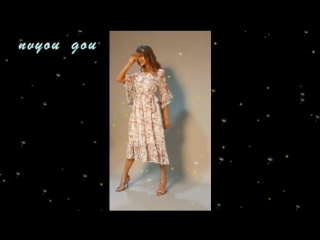 nvyou gou Boho chic maxi summer dress women Elastic causal button beach long dress female Spring print vestidos dress robe femme