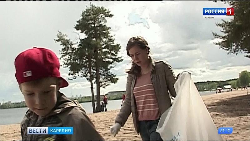 Субботники в местах отдыха горожан прошли в Петрозаводске