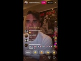 Robbie Williams reacting to KSIs music on Instagram Live