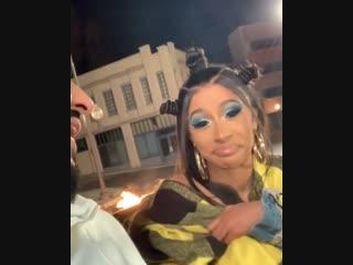 12 февраля 2019: Карди на съемках клипа с Dj Khaled