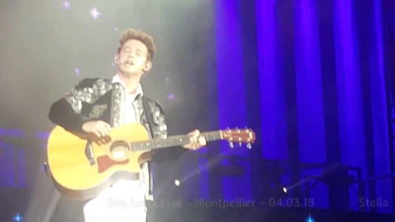 Soy Luna Live -Montpellier - 04.03.18 - Matteo chante pour Luna et parle françaiрудж