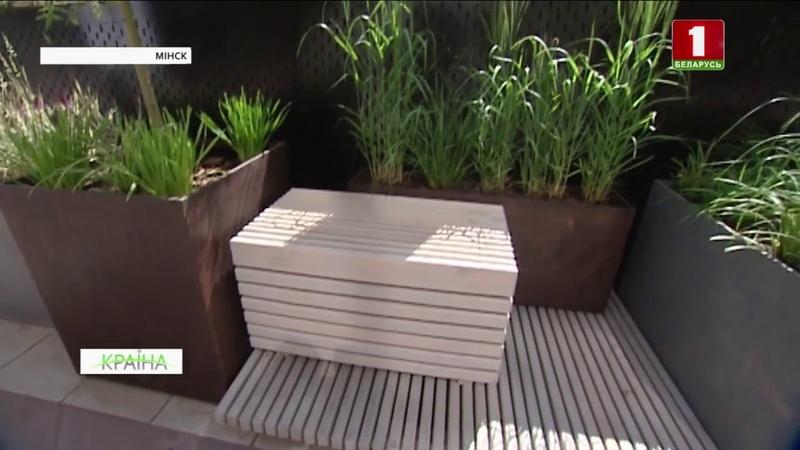 Зялёны куток у цэнтры Мінска Дэкаратыўны злакавы сад з'явіўся ў сталіцы