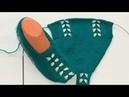 Kelebek modeli patik iki şiş kolay patik bayan patik modelleri/handmade socks
