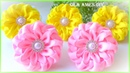 Канзаши Цветы из репсовой ленты Kanzashi Grosgrain Ribbon Flower Tutorial Flor de Fitas Ola ameS DIY