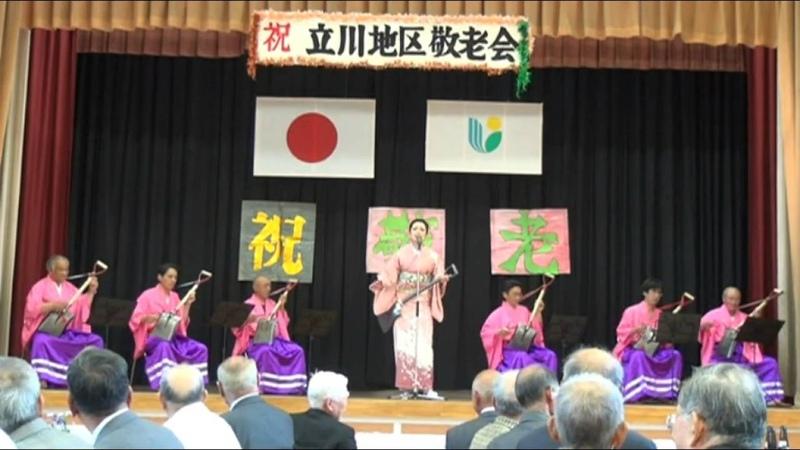 Japanese Enka singer with The Shovel Man in Uchiko-cho,Ehime,Japan.