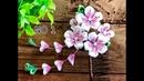100均材料だけで つまみ細工 コーム髪飾り作り方 七五三 成人式 kanzashi flower fabric