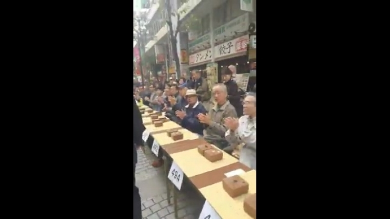 Сеанс одновременной игры Япония 1000 человек
