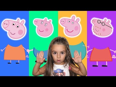 Wrong Heads Peppa Pig learning Matching game for kids