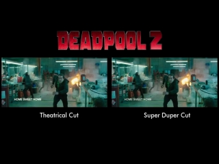 Deadpool 2 - Theatrical Cut Vs Super Duper Cut (Opening Fights)