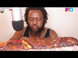 [Good Eating ASMR] ASMR: Eating Barbecue Fried Chicken and Pork Ribs *Eating Sounds* No Talking