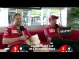 Ferrari's Sebastian Vettel and Kimi Raikkonen | Grill the Grid | Truth or Lie