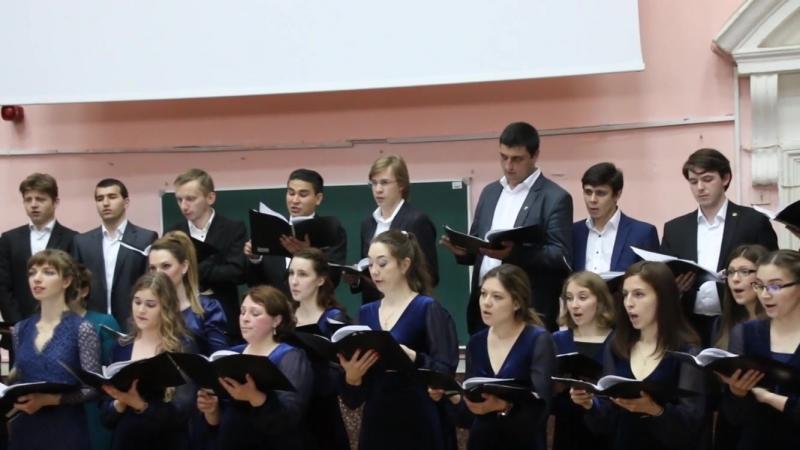 Сюжет Государственный экзамен по дирижированию хором МПГУ
