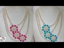 81 How to Make Pearl Beaded Necklace || Diy || Jewellery Making