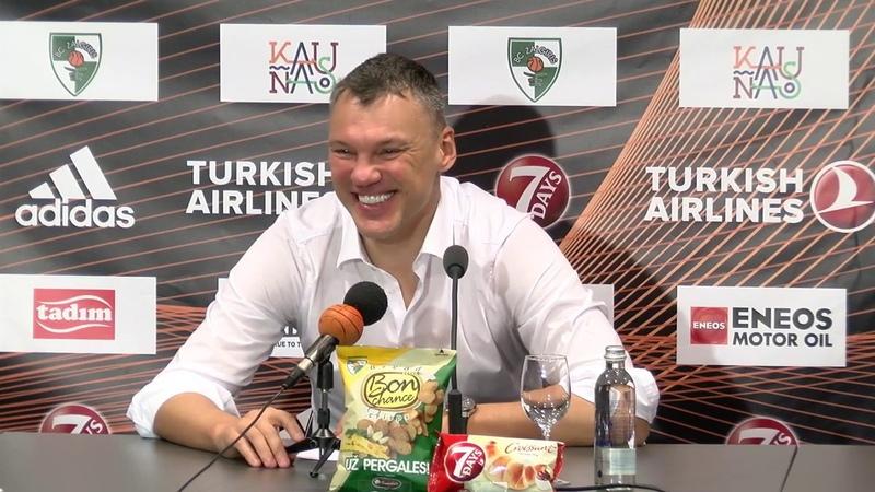 EuroLeague Žalgiris Kaunas Olympiacos Piraeus press conference