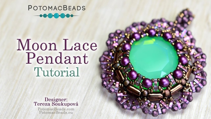Moon Lace Pendant - Jewelry Making Tutorial by PotomacBeads