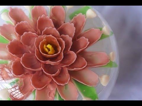 Hướng dẫn tạo hình hoa rau câu 3d đơn giản nhất