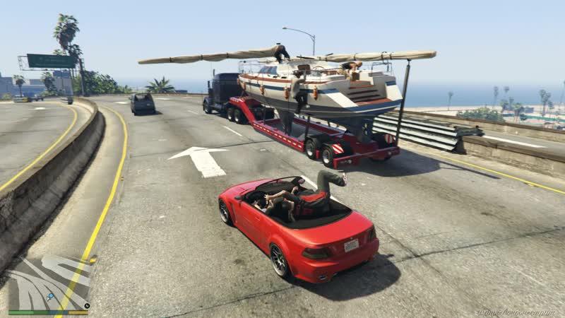 Grand Theft Auto V by z0c Сбежавшая яхта Майкла х Часть 2