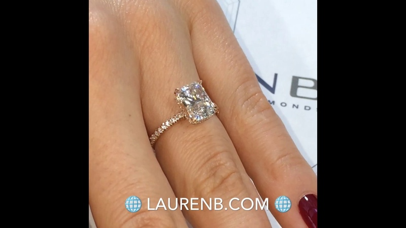 2 ct Radiant Cut Diamond Rose Gold Engagement Ring
