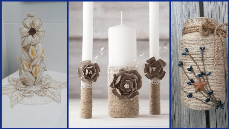 Beautiful stylish home decoration ideas with jute craft