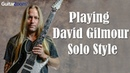 Playing David Gilmour Solo Style | Steve Stine | Guitar Zoom