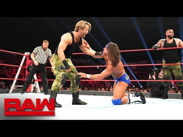 Roode Gable vs AOP Maverick Raw Tag Team Title 2 on 3 Handicap Match Raw Dec 10 2018