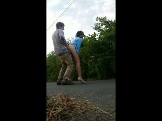 Hot public street russian brunette slut anal fuck and deepthroat blowjob [russian, amateur, 1080p]