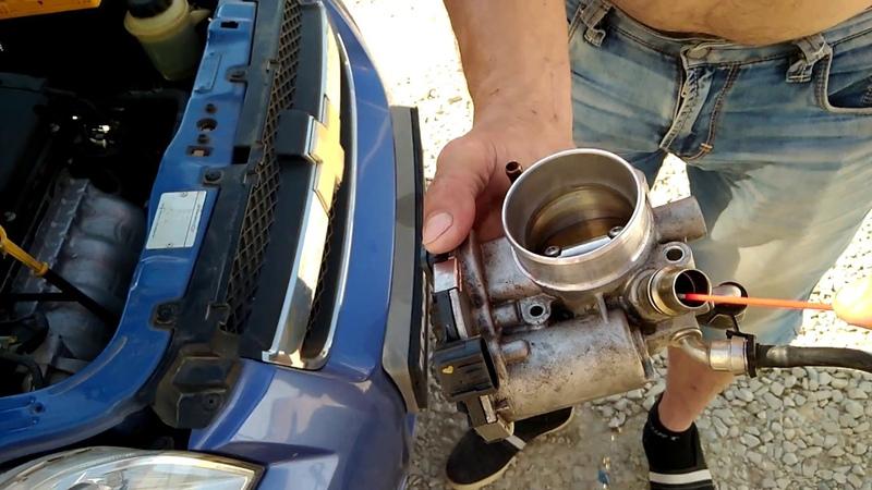 Чистка дроссельной заслонки Chevrolet Aveo