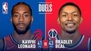 Bradley Beal and Kawhi Leonard DUEL IN D C January 13 2019 NBANews NBA Raptors KawhiLeonard Wizards
