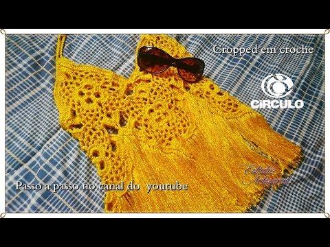Top ou cropped estilo em croche