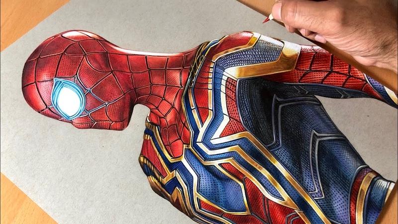Drawing Iron Spider-Man - Iron Suit - Marvel - Timelapse | Artology