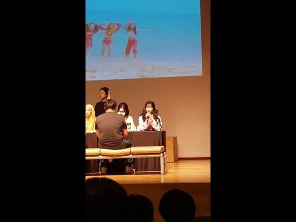 [폰캠 영상] 다이아 마지막 팬싸인회- 동자아트홀 스트레칭하는 주은, 제니 / dia fa