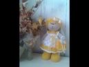 Зайка в стиле Тильда видео мастер-класс/платье/часть 3