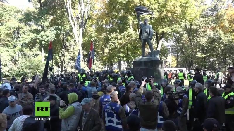 Tod den Moskauern! 15.000 Radikale marschieren zu Ehren des Hitler-Kollaborateurs Bandera in Kiew