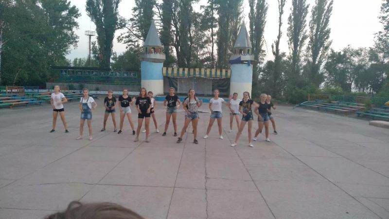 Спортивный танец 3-ого отряда