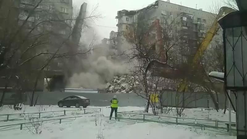 Магнитка обрушилась часть 7 го подъезда дома №164 по улице Карла Маркса